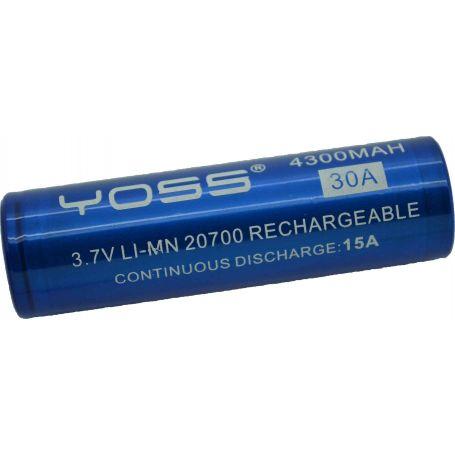 Accu 20700 - 30A - 4300 mah Yoss