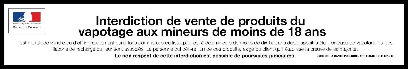 banniere vapotage mineur yousmoke