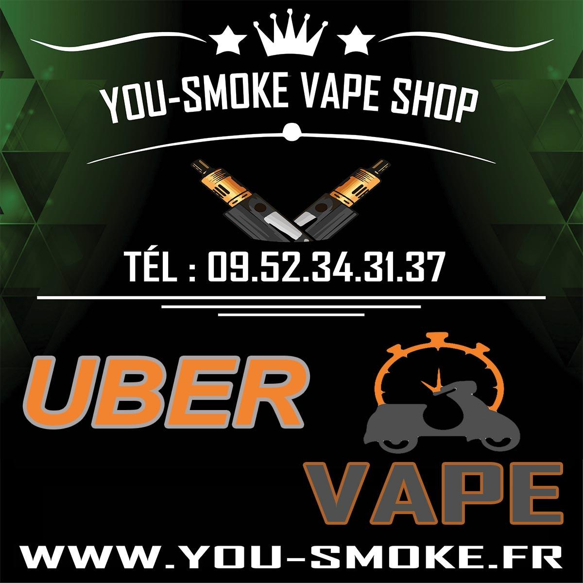Livraison a domicile cigarette électronique et eliquide Uber vape par you-smoke
